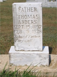 Thomas Andrews gravestone