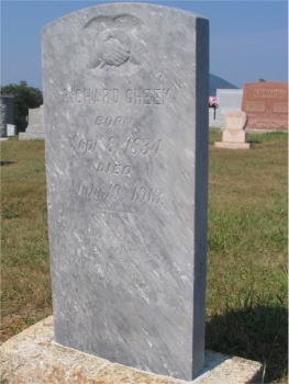 Richard Cheek Gravestone