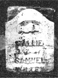 Sallie Crouse Willey gravestone